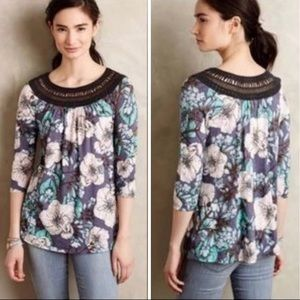 Anthropologie Meadow Rue Floral top, size L